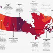 Harita- Kanada Üniversiteleri